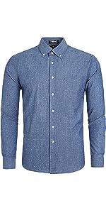 """Denim Shirt , ,dot Shirt Work Shirts, work shirts for men long sleeve"""
