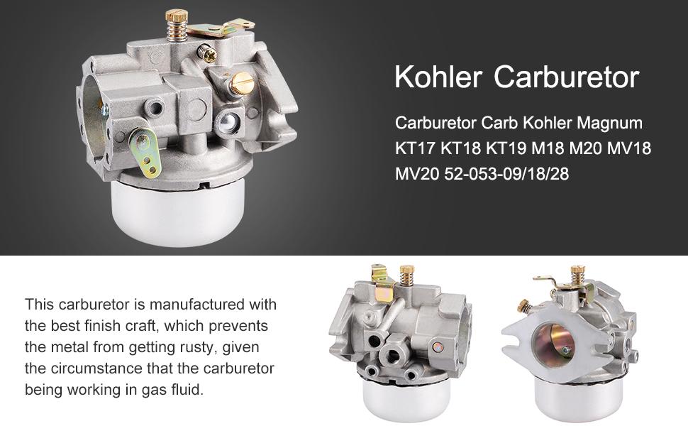 Amazon.com: uxcell Carburador Carb para motores Kohler 20 ...