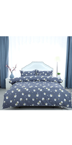 3 pieces duvet cover bed set with pillowcases