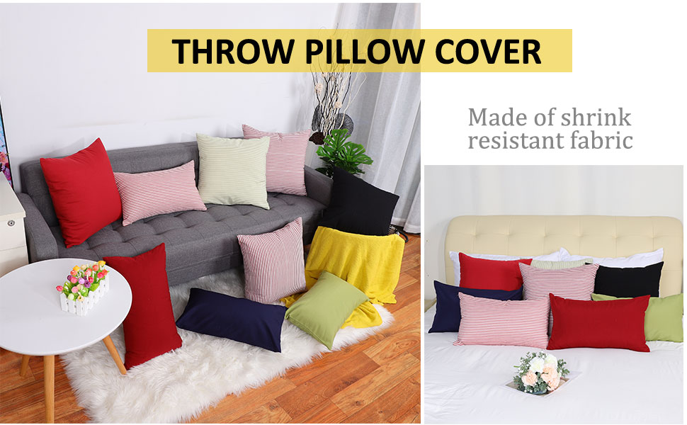 Square Throw Pillow Cover