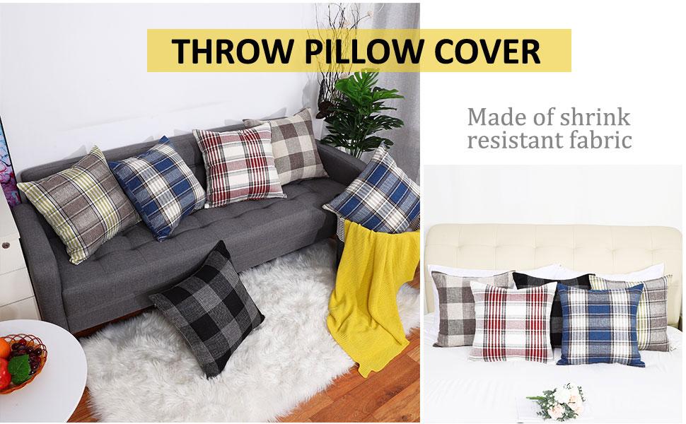 Buffalo check pillow covers