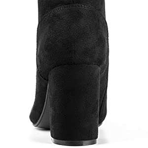 Lace up Chunky Heel Ankle Bootie