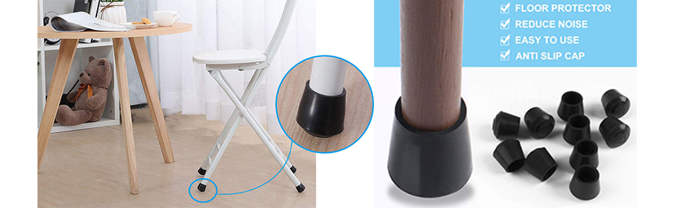 Furniture Rubber Antislip Furniture Table Foot Cover Cap 20pcs For 18mm Dia Leg Smart Promotion