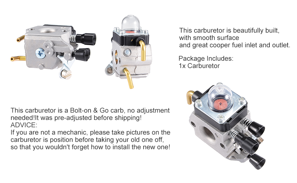 Uxcell New Replace ZAMA Carburetor For STIHL C1Q S71 C1Q S97 C1Q S143 FS38 FS45 FS45C FS46 FS55 FS55RC KM55 HL45