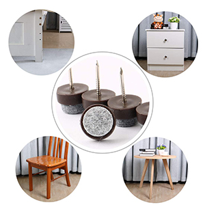 Table Chair Furniture Feet Legs Floor Protector Guard Felt Pad Nails