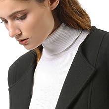 Allegra K Women's One Button Collarless Long Trench Coat