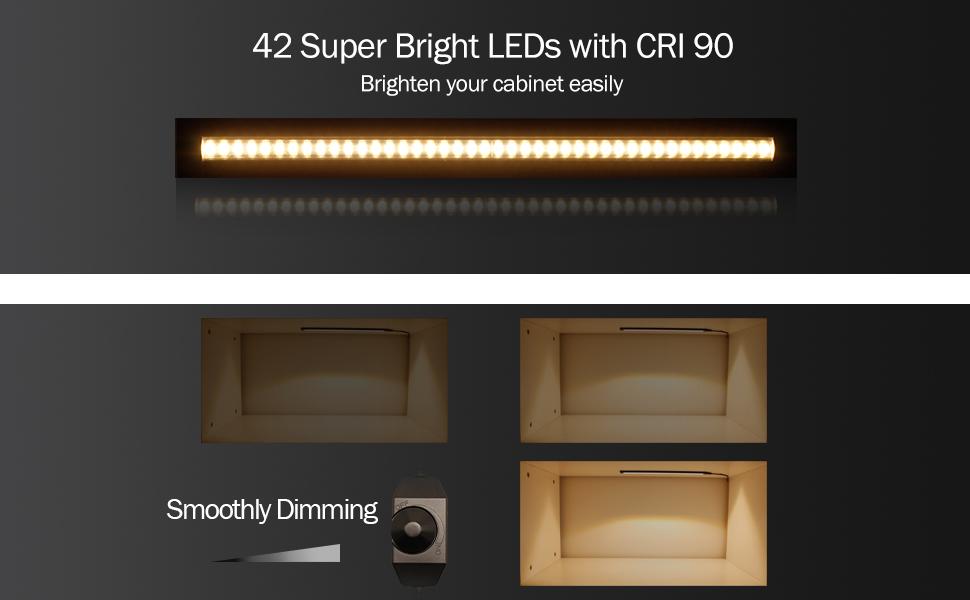 Ultra thin led under cabinetcounter kitchen lighting plug in elegant and great led under cabinet lighting aloadofball Choice Image
