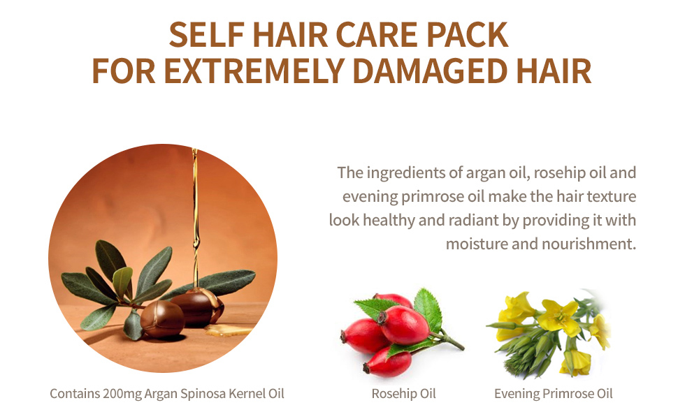 self hair care pack for extremely damaged hair
