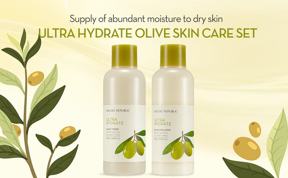 Ultra Hydrate Olive Skin Care Set