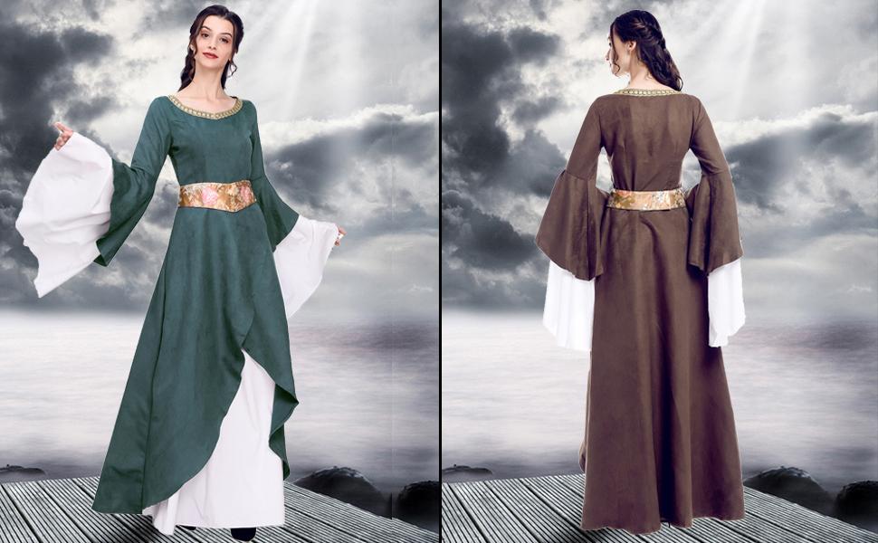 Amazon.com  Renaissance Medieval Dress Nuoqi Women s Victorian Gown ... cf3ab40c7381