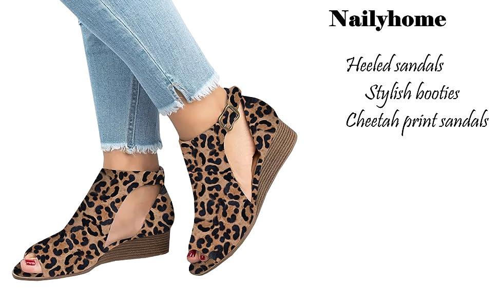 6b52b498e7762 Amazon.com: Nailyhome Womens Ankle Booties Mid Chunky Block Heel Cut ...
