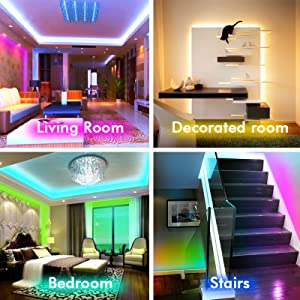 Amazon Com Led Strip Lights Led Lights Sync To Music 16