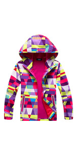 70d2045f80bf Amazon.com  Hiheart Boys Girls Summer Lightweight Hooded Jackets ...