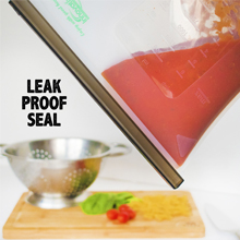 silicone bag with leak proof seal