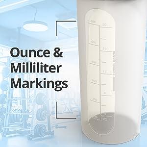 bluepeak shaker bottle ounce milliliters marking 28oz protein mixes juices water supplements