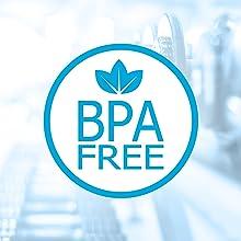 bpa free plastic bottle protein shaker blender mixer water