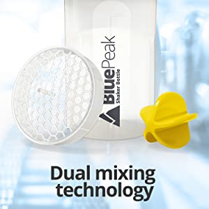 dual mixing technology blender protein shaker grid ball