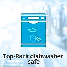 top rack dishwasher safe convenient easy clean blender water protein shaker