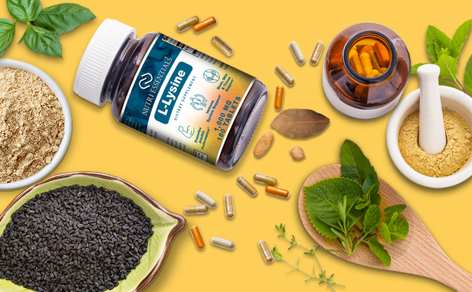 Amazon.com: Nutri Essentials L-Lysine Suplemento dietético ...