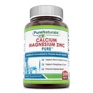 Pure Naturals Calcium Magnesium Zinc Dietary Supplement, 300 Tablets