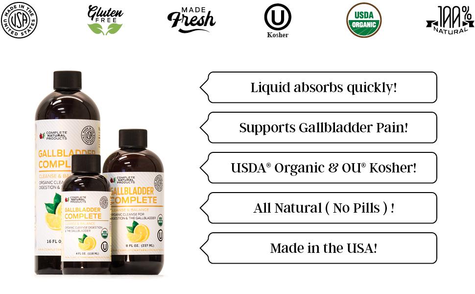 Amazon.com: Gallbladder Complete 4oz - Natural Organic