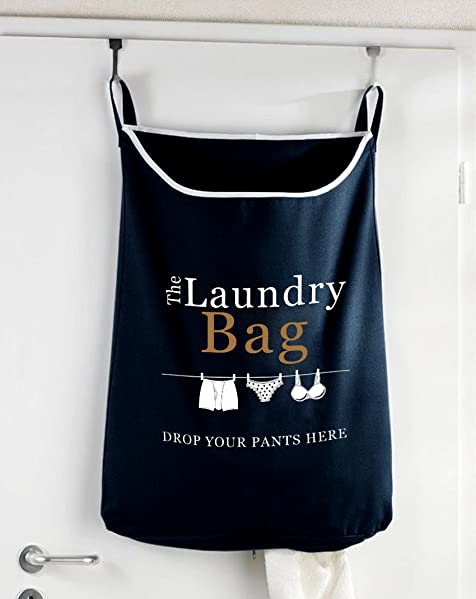 Drop Your Pants Here Hanging Laundry Hamper