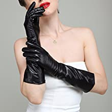 Metallic Shine Extra Long Stretchy Costume Cosplay Gloves 7 Colors Accessory OS