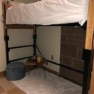 Amazon Com Versonel Smart Loft Twin Conversion Dorm Steel Bed Frame