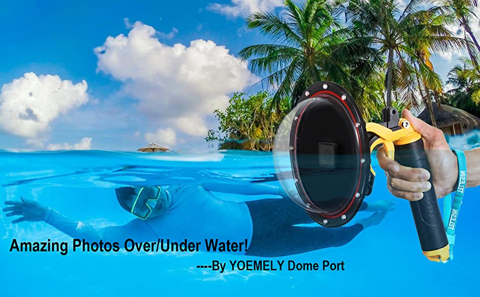 Love Water Sea Photography You Must To Shooting In The YOEMELY 6 Dome Port For GoPro Hero 5 Is A Perfect Tool