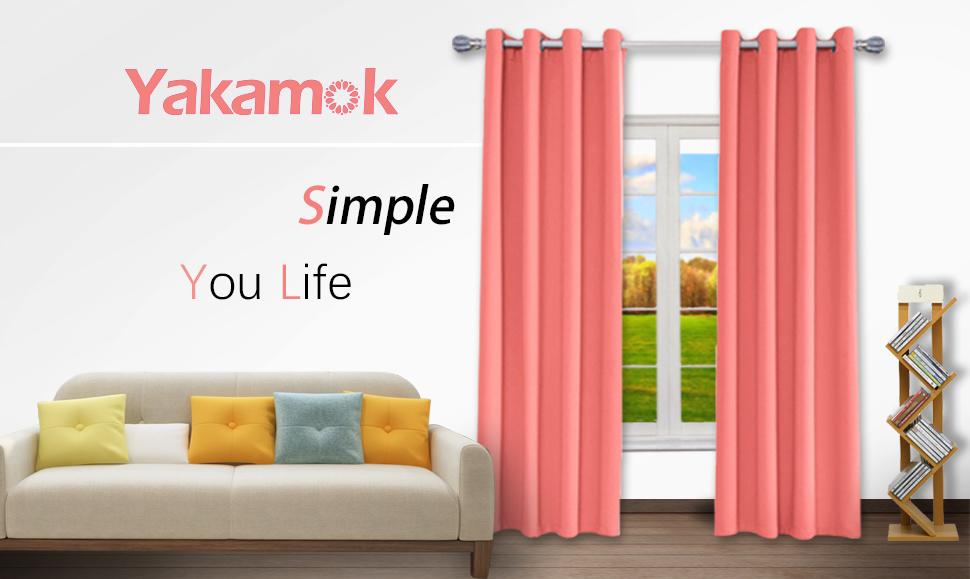 Amazon Com Yakamok Room Darkening Thermal Insulated