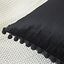 Black Pillow Covers 18x18
