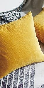throw pillows yellow
