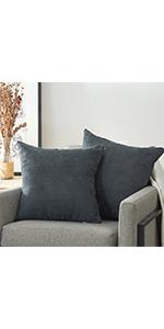 Dark Grey Pillow Covers