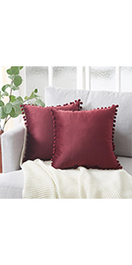 Wine Red Pillow Covers