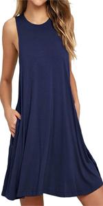8e0d17e4259593 Women's Side Split Short Sleeve Tunic Tops · Women's Sleeveless Pockets  Casual Swing T-Shirt Dresses Summer Dress · Women's Off Shoulder Sweatshirt  Slouchy ...