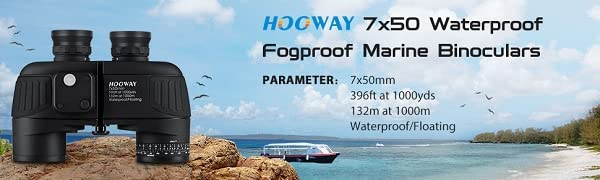 7x50 waterproof marine binoculars