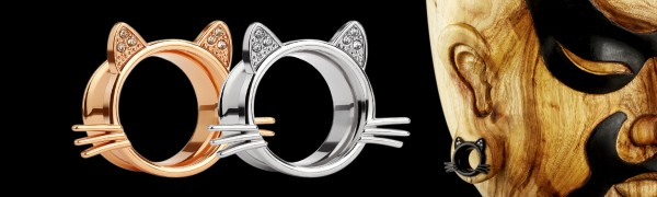 Cute Kitten Cat Ear Plugs