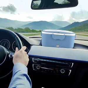 A portable food warmer on car