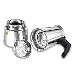 how to clean inside of stainless steel coffee pot