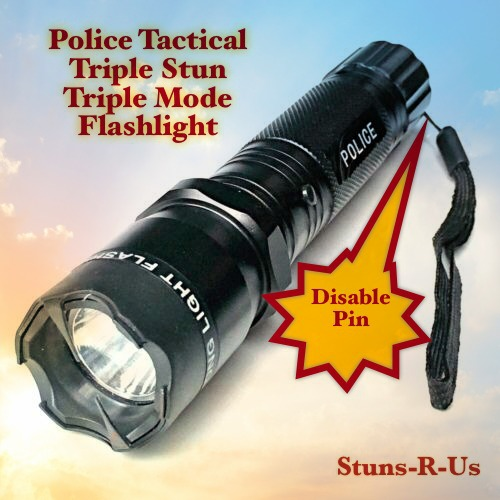 Amazon com : STUNSRUS Tactical Police 510 MV Stun Gun LED