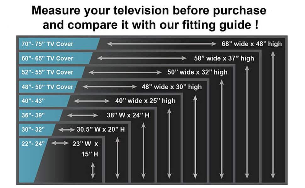 Amazon Com Outdoor Tv Cover 60 Quot 65 Quot Inch Universal