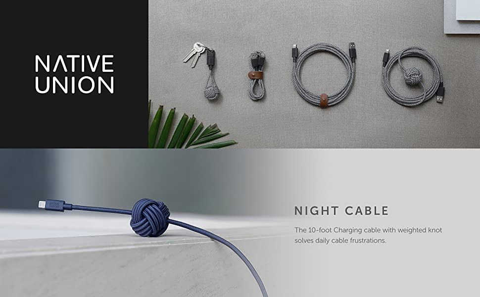 Amazon Com Native Union Night Cable 10ft Ultra Strong