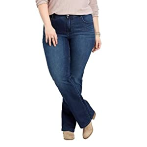 82e620d82fd382 maurices Boot & Flare Jeans - Women's Plus Size Everflex at Amazon ...