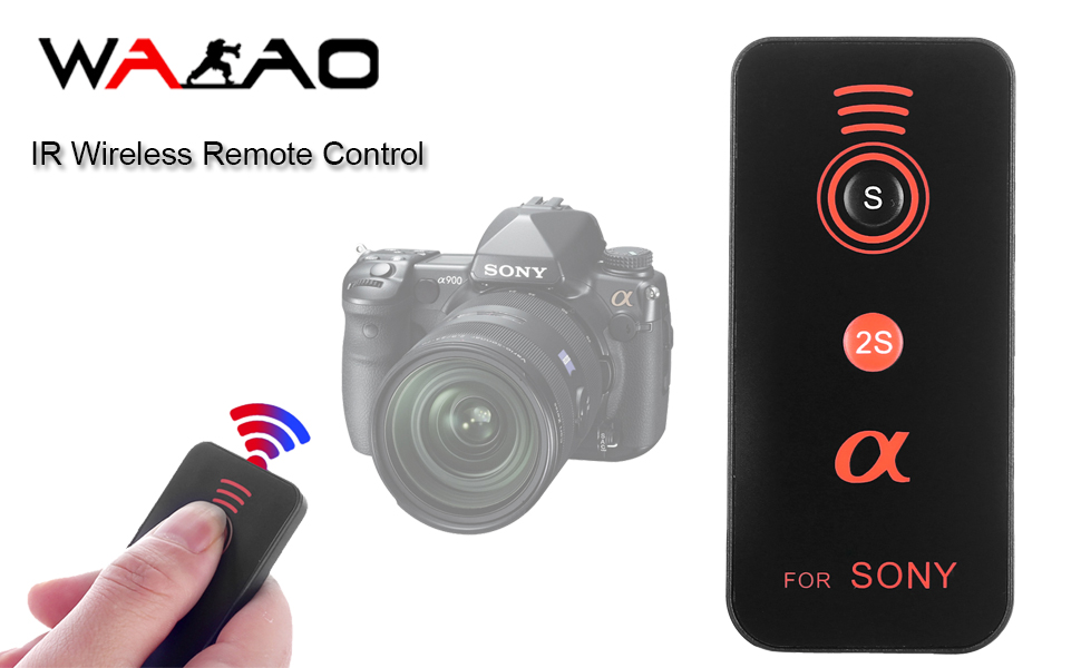 IR Wireless Remote Control Release Compatible with Sony Alpha Camera A7R  III, A9 A7R II, A7 II, A7 A7R A7S A6500 A6300 A6000 A55 A65 A77 A99 A900  A700