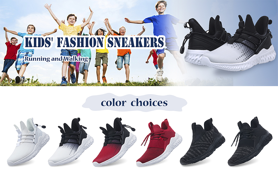 Boys Girls Funny Trainers Kids Soft Slip On Shoes Running Walking Size Xmas Gift