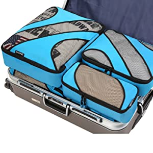 packing cubes in luggage