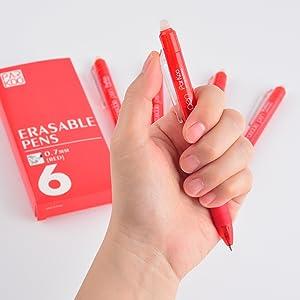 erasable red pens