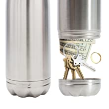 Diversion safe bottle bottom unscrews to hide your valuables!
