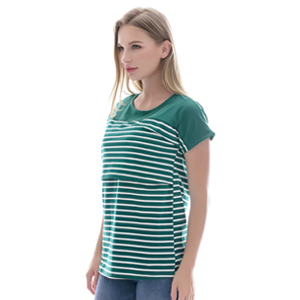 487ddc2e94991 Smallshow Women's Maternity Nursing Tops Striped Breastfeeding T ...