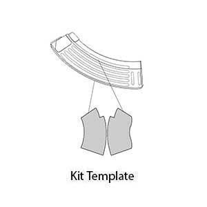 Amazon gunskins ak 47 mag skin camouflage kit diy vinyl ak 47 mag skin kit template with precut pieces ccuart Images